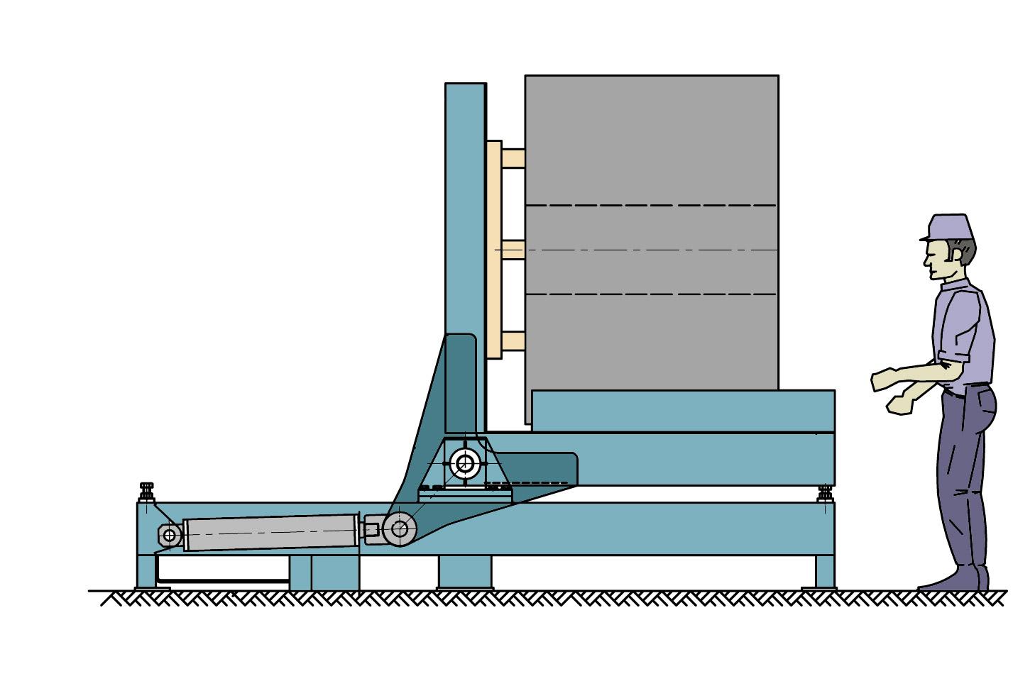 Volteador de bobinas SVE horizontal