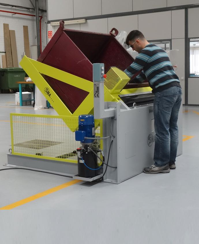Inclinador hidraulico de contenedores